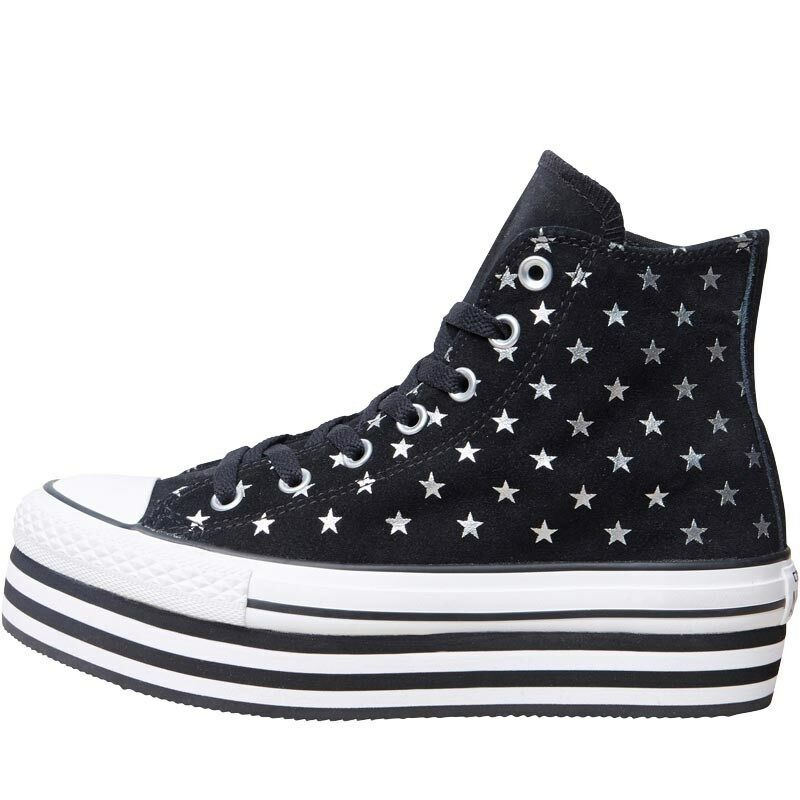 Converse CT Bll Star Hi Platform Trainers, Black/White, UK 5 EU 37.5, BNIB