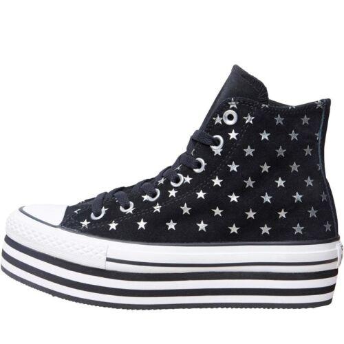 Bnib Uk Converse 36 ginnastica nero Hi bianco 5 Eu da 3 Star All Scarpe Ct p61xz6