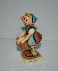 "Vintage Hummel Goebel Figurine #73 ""Little Helper"" Girl With Basket - 4.5"" Tall"