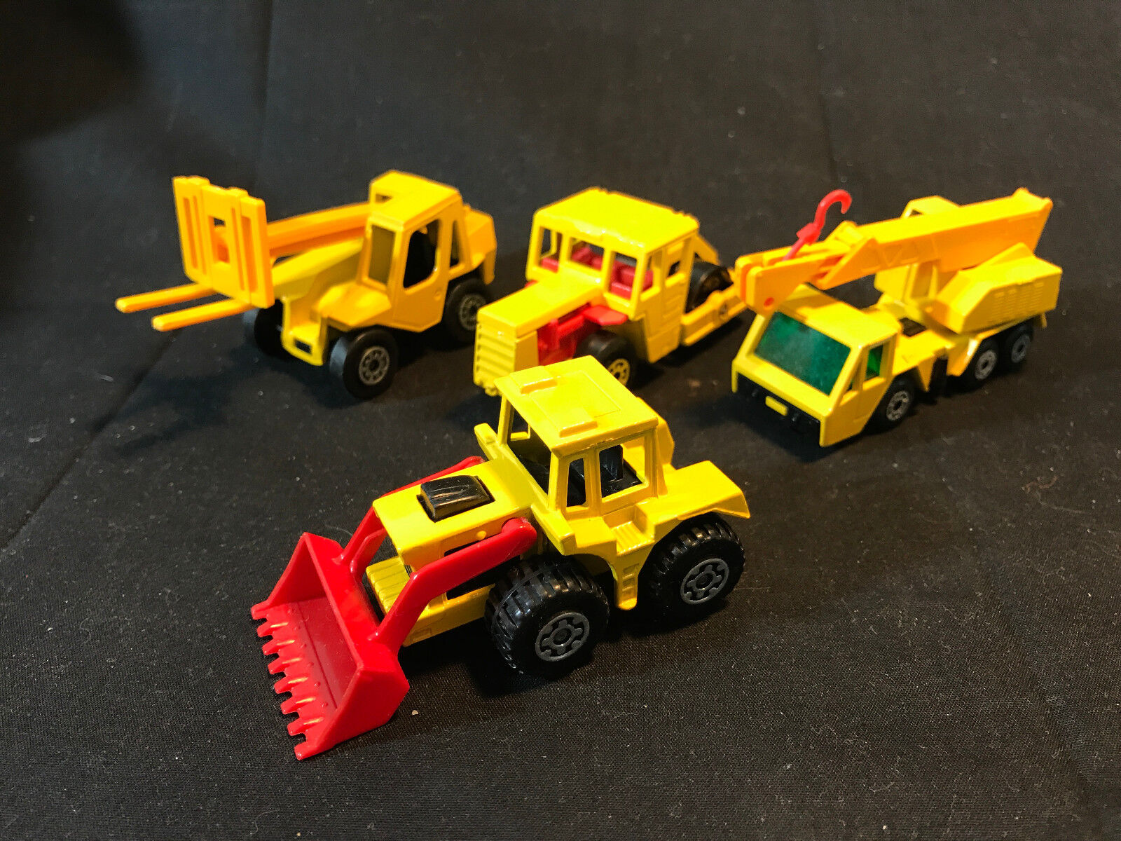Matchbox Lesney Construction Toy LOT Crane Road Roller Jacklift Shovel England