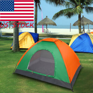 US Portable Camping Hiking Tent Lightweight Survival Double Outdoor 2 Person