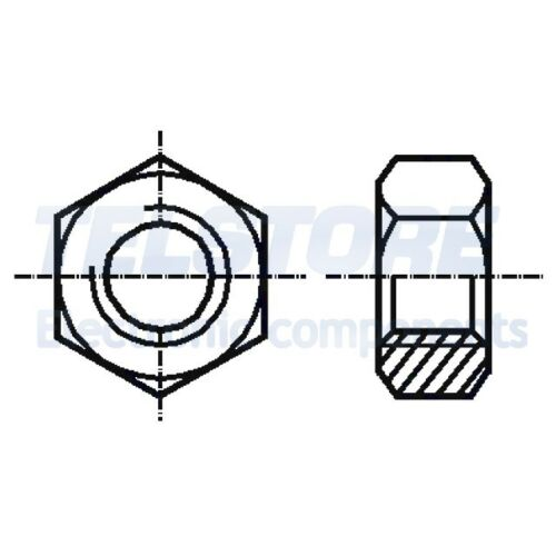 100pcs  Dado esagonale M2,5 ottone passo 0,45 5mm BN 504 DIN 934 TELSTORE