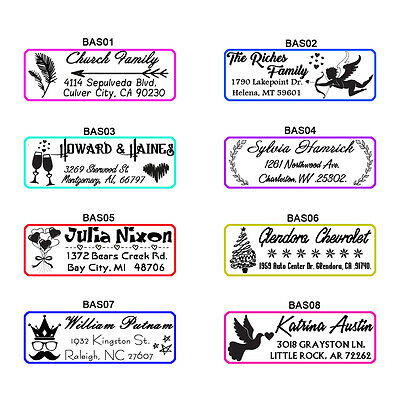 Personalized Self Inking Family Business Return Address Rubber Stamp Custom Logo Ebay