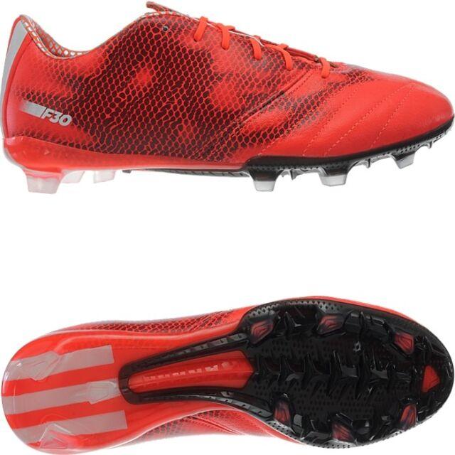 sports shoes 32e0e 4ef38 Adidas F30 FG LEA Herren Fußballschuhe Leder rot Highspeed Nocken  Snakeprint NEU