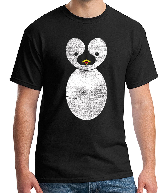 Men/'s Cute Cartoon Penguin Black T Shirt Adorable Funny Animals Novelty Gift Tee