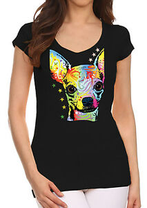 New Neon Chihuahua Black Tee Shirt Muscle Neon Dog Puppy Animal Pet Rave Party