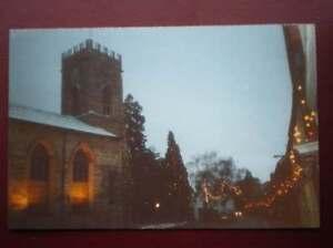 POSTCARD-B10-BUCKINGHAMSHIRE-STONY-STRATFORD-CHURCH-AT-CHRISTMAS