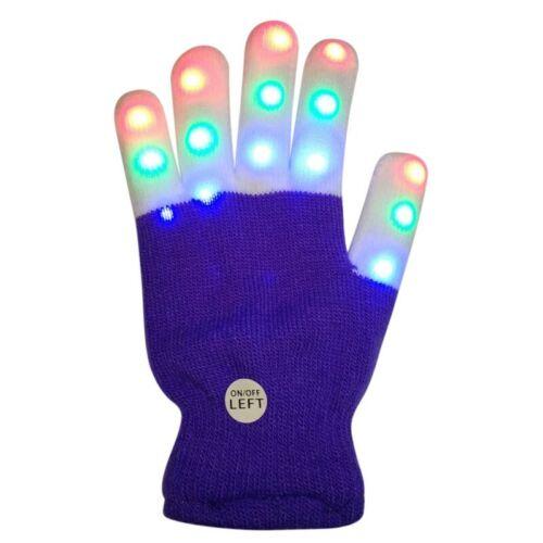 Christmas LED Glove Kids 7 Light Warm Modes Finger Light Luminous Gloves Props