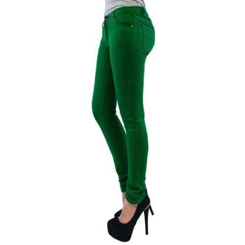 NUOVA linea donna Jeggings Donna Fit Skinny Colorati Elastico Pantaloni Jeans Taglia 8//26