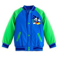 Disney Store Mickey Mouse Boy Varsity Jacket Size 4 5/6