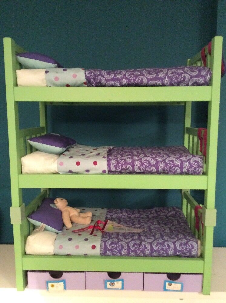 Genuine American Girl Doll Accessories - Camp Bunk Bed & Extra Bunk
