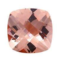 3.70ct 10mm Natural Cushion Cut Morganite Loose Gemstones