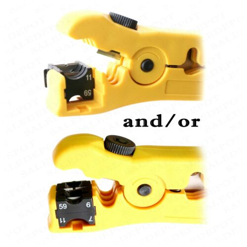 Coaxial Cable Stripping Tool RG6 RG11 RG59 RG7 Wire Cutter Stripper connectors