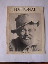 1940's National Theatre Program John Barton in Tobacco Road Washington, D.C.