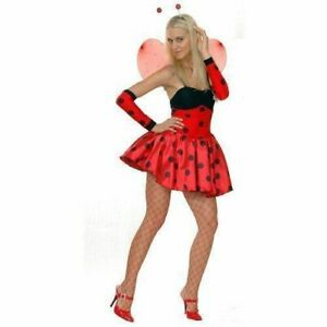 ADULT LOVE BUG LADYBIRD OUTFIT FANCY DRESS COSTUME FAIRY LADY BIRD WOMENS LADIES