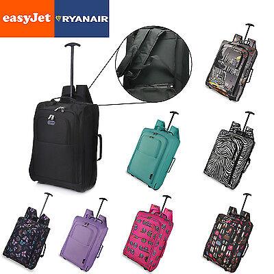 Hand Luggage Bag Backpack Trolley 2 Wheeled Cabin Bag Baggage Cool Designs Print