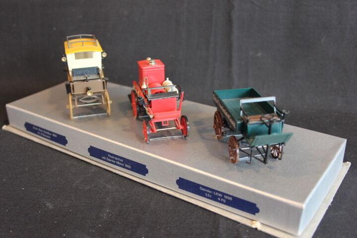 Mercedes pre 1900 set, Omnibus   Feurspritze   LKW (1894 - 1896)  (JS)