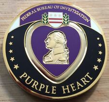 FBI - Federal Bureau of Investigation PURPLE HEART challenge coin
