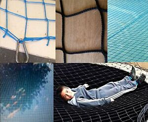 BULLNETS-Pond-safety-net-amp-pool-cover-safe-net-child-proof-pond-guard-BLACK-BLUE