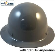 Msa Skullgard Full Brim Hard Hat With Staz On Suspension Gray