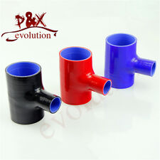 """2.5"""" To 2.5"""" T Piece Silicone Hose 63mm T Shape Tube Pipe for 35mm ID BOV black"""
