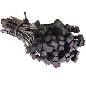 100-Stueck-7-6-x-200-mm-schwarz-Kabelbinder-set-Kabelband-Kabelstrapse-UV-Nylon-6