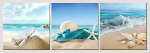 Canvas-Prints-Picture-Painting-Photo-Wall-Art-Home-Room-Decor-Sea-Beach-Blue