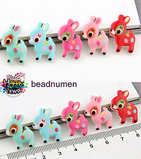 12pcs C12 Deer Resin Flatback Scrapbooking For DIY Phone /Craft Christmas