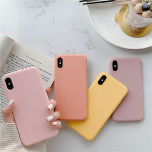 Candy-Solid-Color-Silicone-Phone-Case-For-iPhone-11-XS-MAX-XR-X-7-8-6-Plus-Cover
