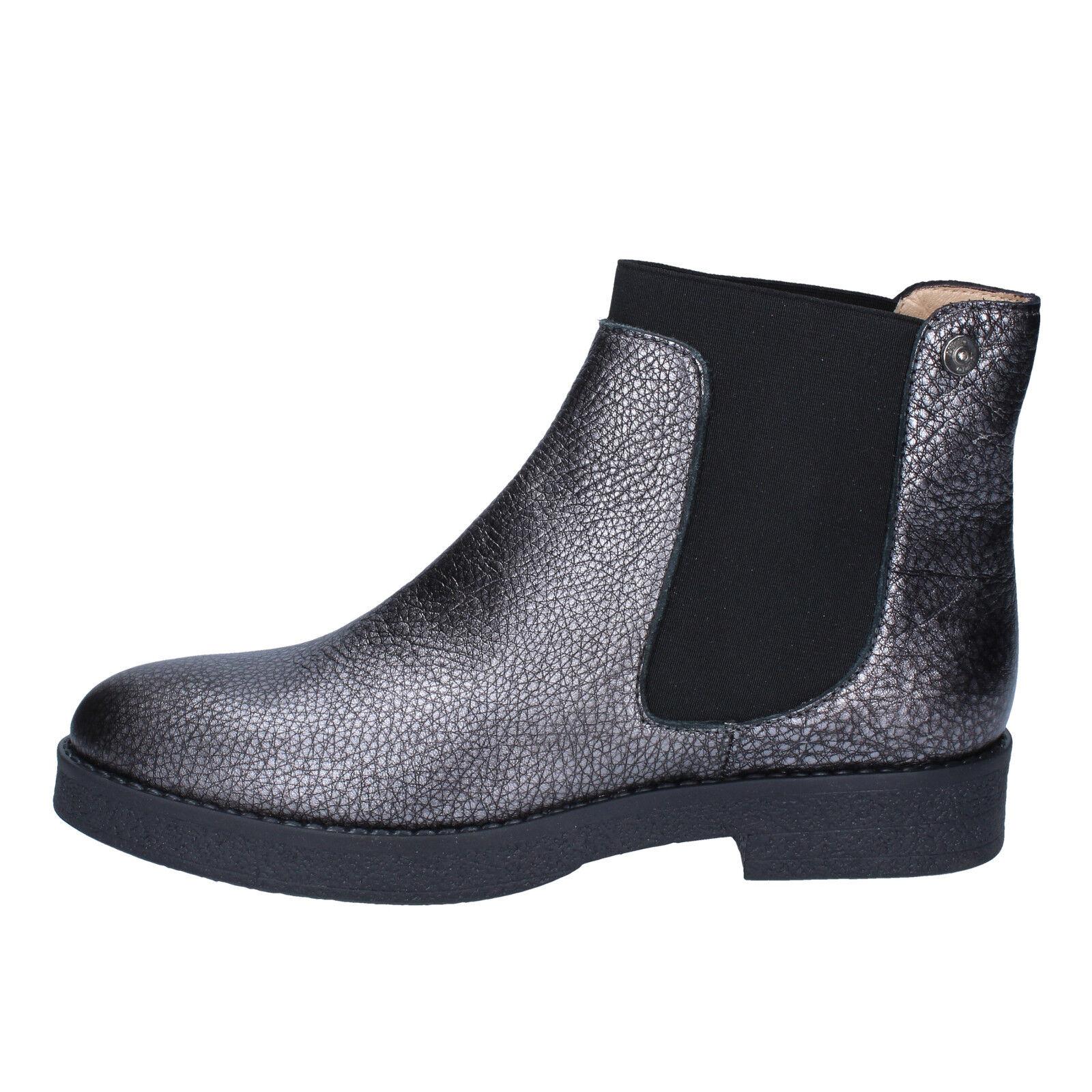 scarpe donna LIU JO 39 EU stivaletti grigio pelle BY592-39