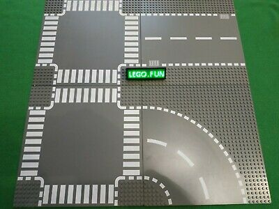 LEGO® 4 x große Straßenplatten Bauplatten 32x32 Noppen Street City Legoland A2kg