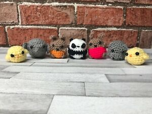 Details about Little tiny cute animal gifts crochet keyring chicks bunnys  panda hippo elephant