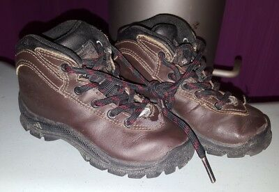 ADIDAS Boots Stiefeletten Schnürschuhe Gr. 25 Echtleder