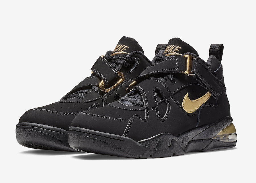 (AJ7922-001) NIKE AIR FORCE MAX CB BLACK METAL gold NEW