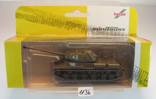 Herpa Minitanks 1//87 nº 743488 URSS lucha tanques js 2 militar Tank OVP #1136