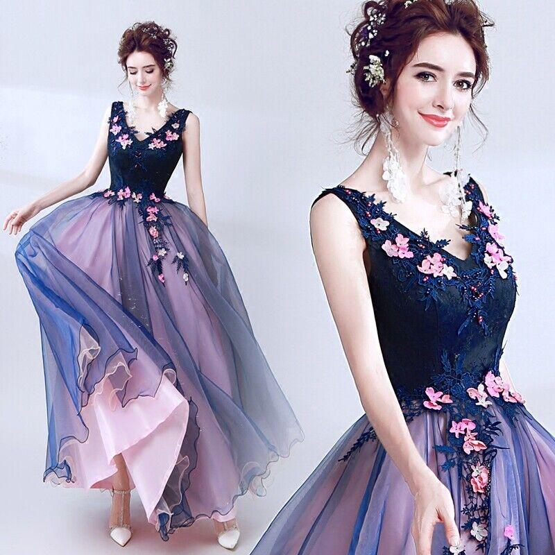 Nouvelle soirée formelle Parti robe de bal bal demoiselle d'honneur dentelle perles hôte Robe 069
