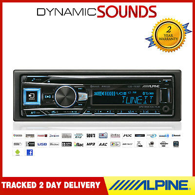 Alpine CDE-193BT 50W x 4 Bluetooth CD MP3 USB AUX In Android iPhone Car Stereo