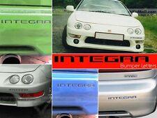 ACURA/HONDA INTEGRA 98 1999 2000 2001 BLACK FRONT+REAR BUMPER INSERTS NOT DECALS
