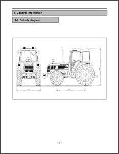 Kioti Daedong DK35 DK40 DK450L Tractor Service Repair Manual on CD