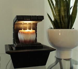 zimmerbrunnen copa mit led beleuchtung springbrunnen tischbrunnen. Black Bedroom Furniture Sets. Home Design Ideas