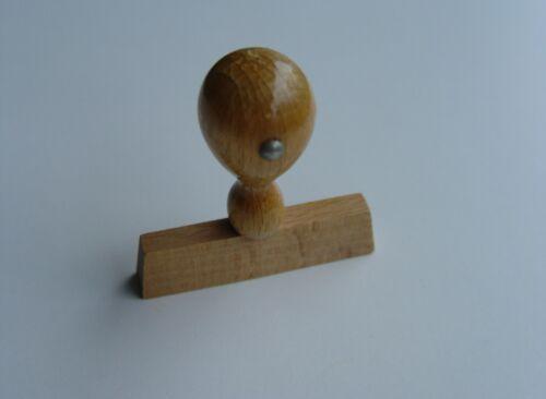Diverse Holzstempel Stempelkörper Rohling Stempel 60x10 mm