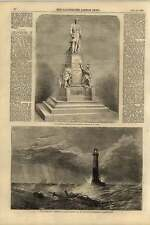 1855 Lighthouse Artwork Clarkson Stanfield Wellington Memorial Manchester M Nobl