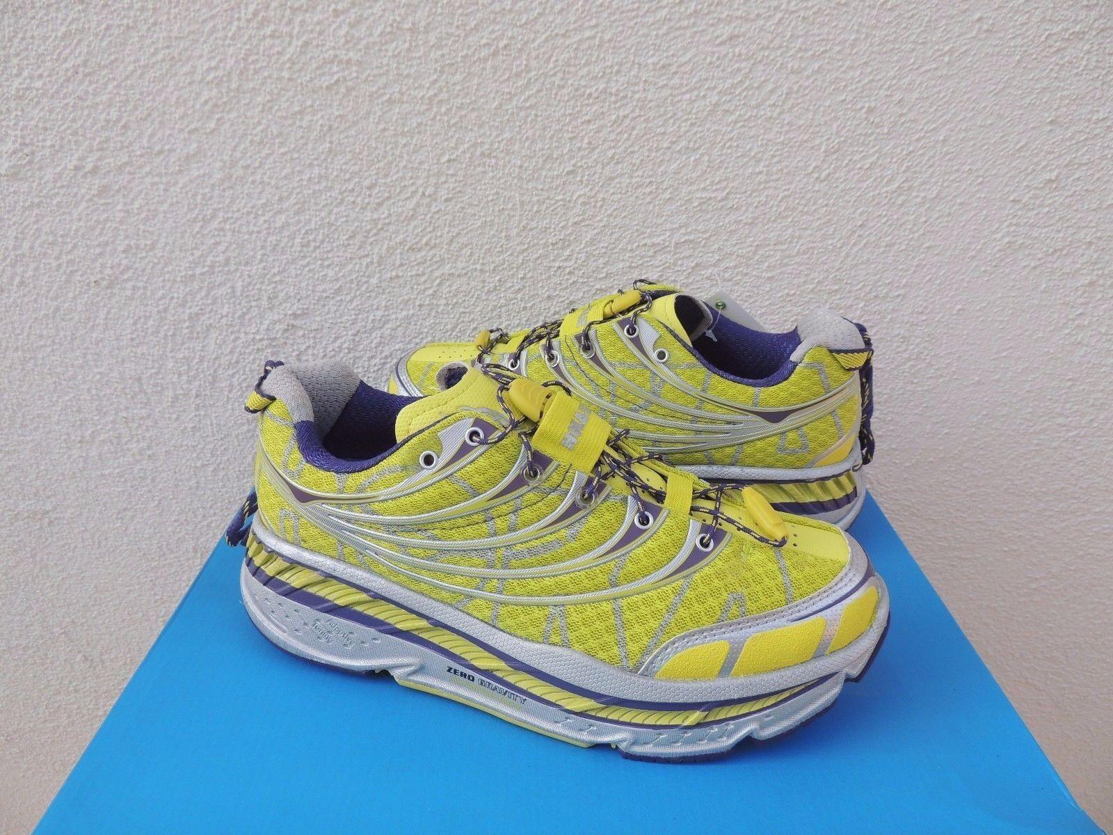 HOKA ONE ONE STINSON TARMAC 7.5/ CITRUS RUNNING Schuhe, US 7.5/ TARMAC EUR 39 1/3 NWT d85008