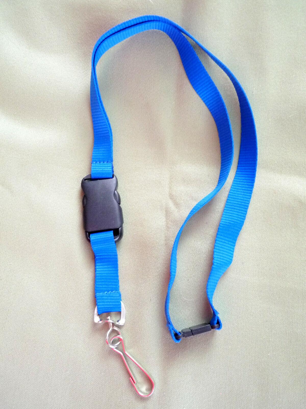 1 Cordon Lanière Tour de Cou Porte Badge Clés Porte clé Bleu - jusqu'a 50 unit