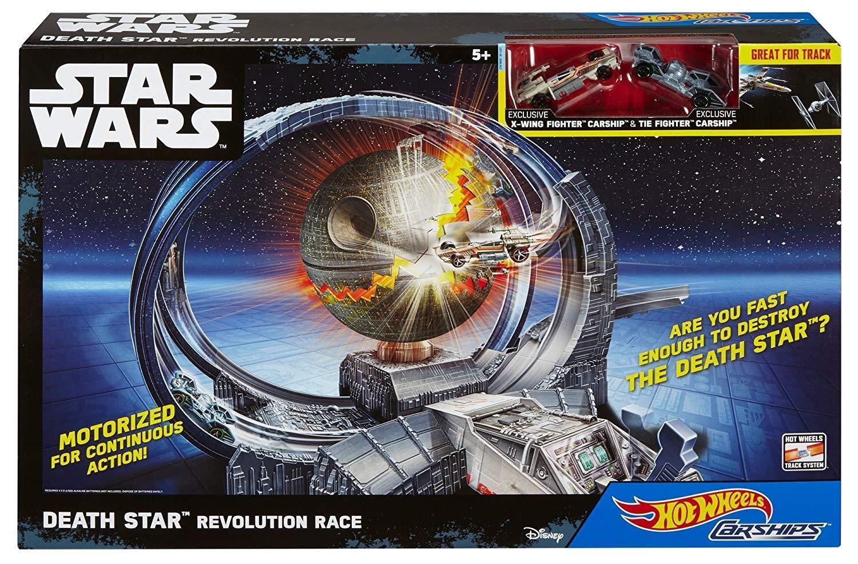 STAR WARS DEATH STAR REVOLUTION RACE  HOTWHEELS NEW IN BOX