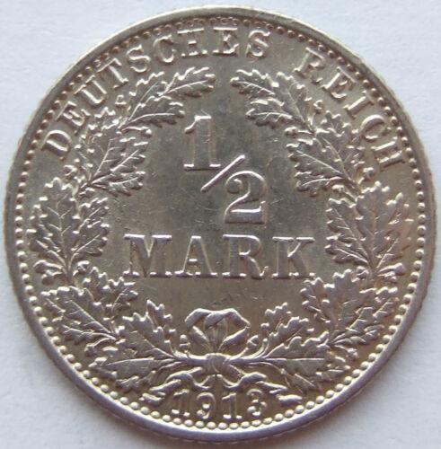 TOP! 1/2 Mark 1913 E in BRILLIANT UNCIRCULATED / BRILLIANT UNCIRCULATED RARE