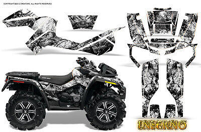 CAN-AM OUTLANDER 500 650 800R 1000 GRAPHICS KIT CREATORX DECALS STICKERS DZY