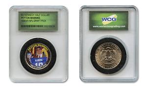PEYTON-MANNING-Colts-Colorized-JFK-Half-Dollar-U-S-Coin-in-Ltd-Slabbed-Holder