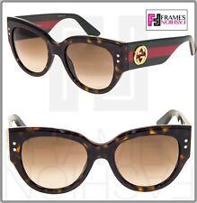 37ff6322e6f GUCCI GG3864S Red Green Brown Havana Gradient Women Square Sunglasses 3864  Star