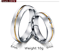 Couple-Rings-Stainless-Steel-silver-based-Gold-line-Promise-wedding-rings-gift 縮圖 2